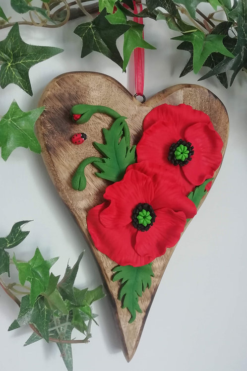 Its Uniquely Yours   Red Poppies Sculptural Art