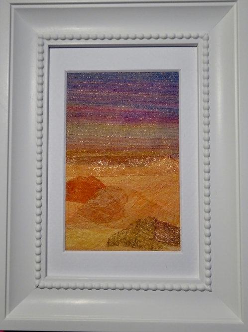 Stitch Impressions   Desert Sands   Hand & Machine Stitched Picture
