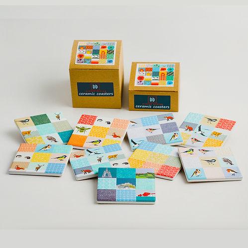 Dibujo Design | Patchwork Mix Ceramic Coasters