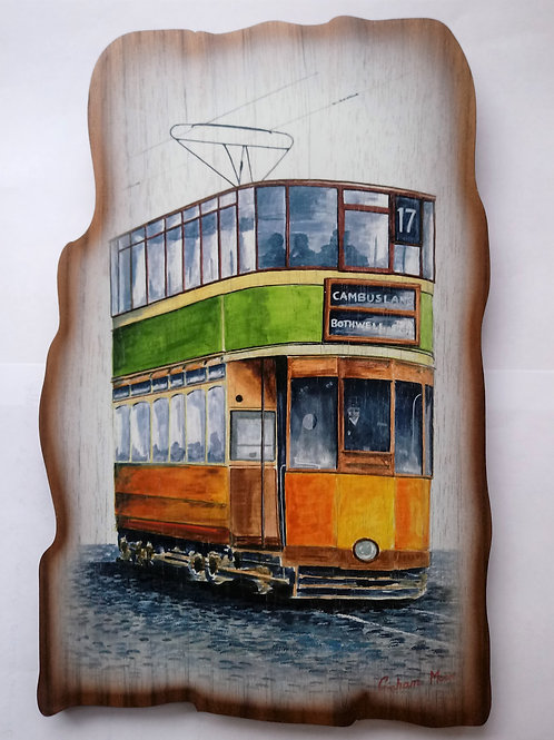 Haggisartz | Glasgow Tramcar Wooden Plaque