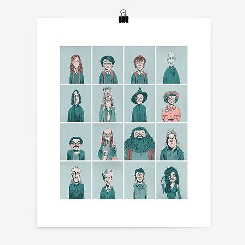 """Alexander Jackson   '16x12"""" Harry Potter 04' Print"""
