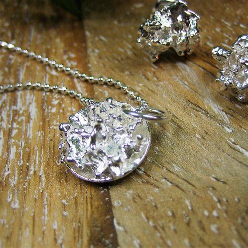 Silver Sparrow Jewellery | Coral Pendant & Stud Earrings