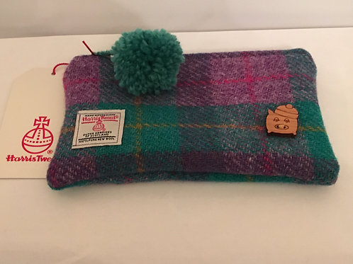Pom Pom Pig | 100% Wool Harris Tweed Pouch