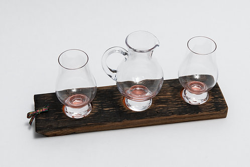 Reza Wood Designs | Whisky Tasting Tray with Glasses and Jug