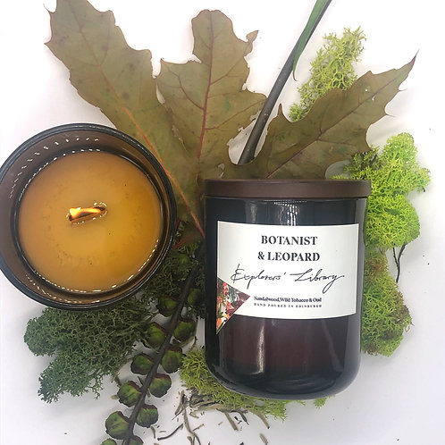 "Botanist & Leopard | Scented Soy Candles ""Explorer's Library"""