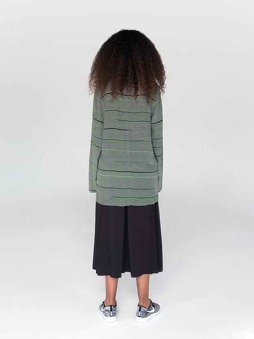 Irina Gusakova   Green Silk Mock Neck Top