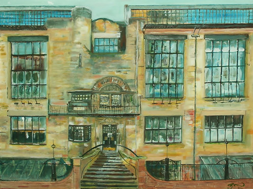 "Joe McNichol | ""Glasgow School of Art"" A3 Giclée Print"