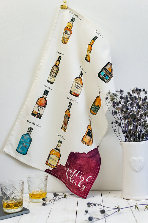 Sarah Leask | Scottish Whisky Tea Towel