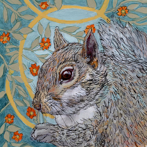 Between the Woods and Sea | Squirrel Print
