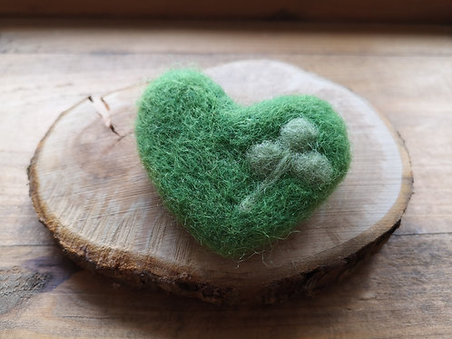 Forest Jewels | Green Heart Brooch