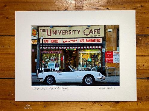 Stuart Brown | University Cafe signed mounted print