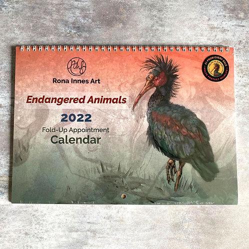 Endangered Animals - 2022 A3 Appointment Calendar