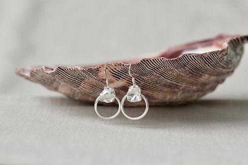 RR Designs   Petal Circle Drop Earrings