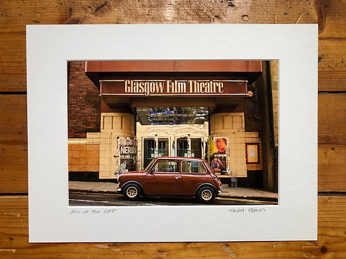Stuart Brown | Mini at the GFT signed mounted print