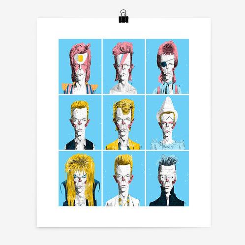 Alexander Jackson   Bowie Portrait Series Print