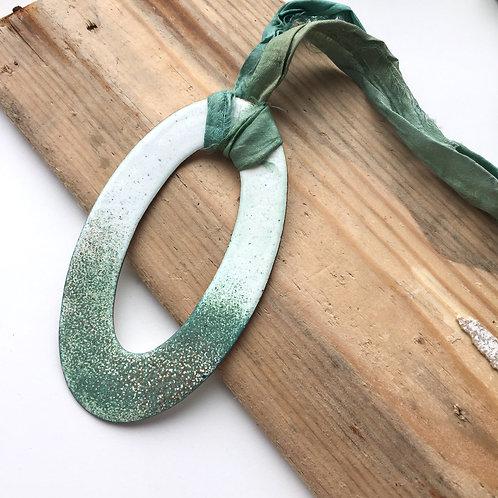 J. Aubrey Jewellery   Rustic Enamel Necklace / Earrings