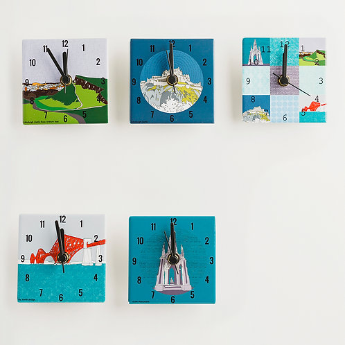 Dibujo Design   Mini Clocks - Edinburgh Landmark