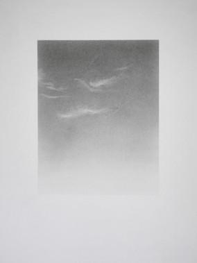 Cirrus 4, 15.5x20cm graphite on 29.7x37cm fine art paper
