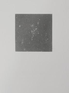 Andromeda, 9x9cm graphite on 21x29.7cm fine art paper
