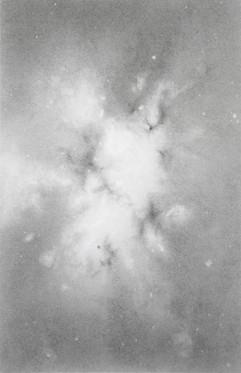 'Nebula 1' graphite on paper. 2020