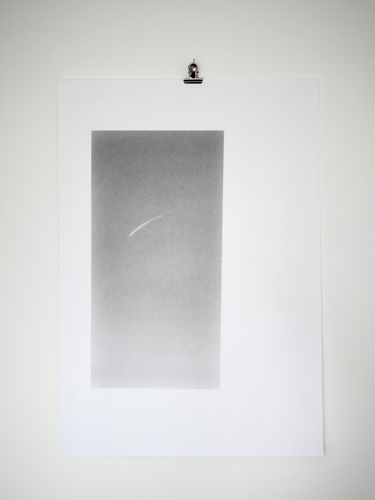 Star Thread, 15x29cm graphite on 29.7x42cm fine art paper