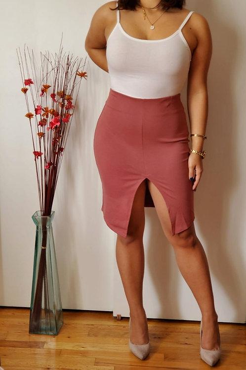 Front Slit Mini Skirt