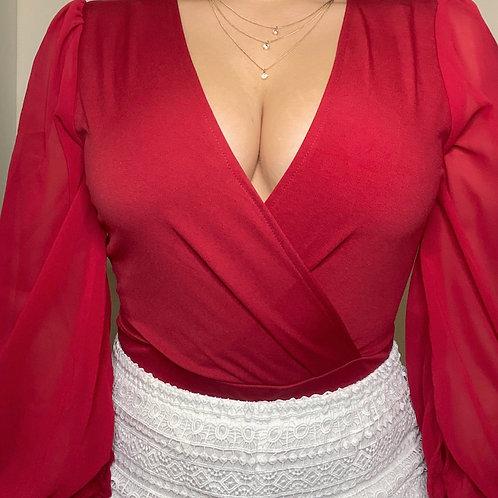 Lantern Sleeve Bodysuit