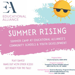TSMS and EA Summer Rising Application!