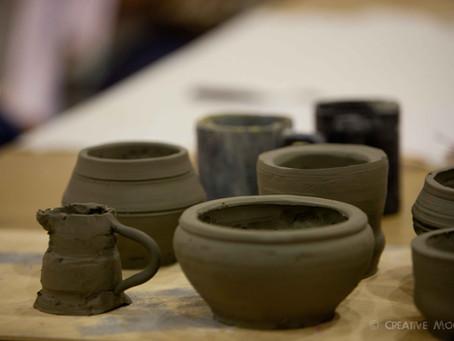 Realizzare un vaso in ceramica con argilla, fai da te.