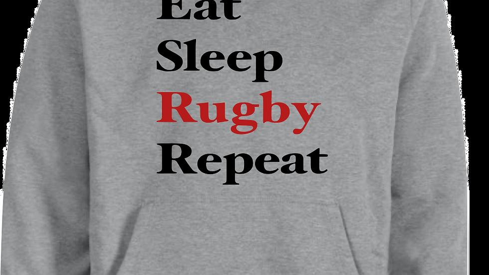 Eat Sleep Rugby Repeat Hoodie