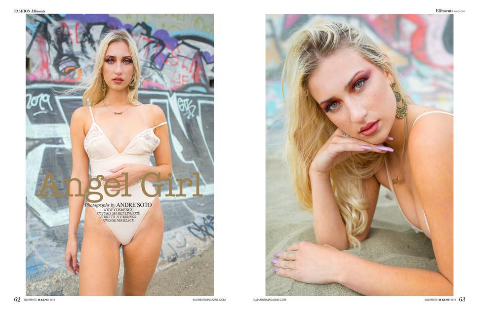 Angel girl for Ellements Magazine