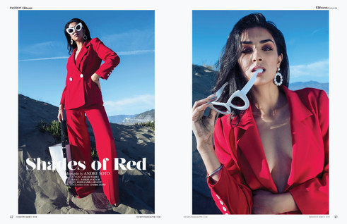 """""""Shades of Red"""" Ellements Magazine Editorial"""