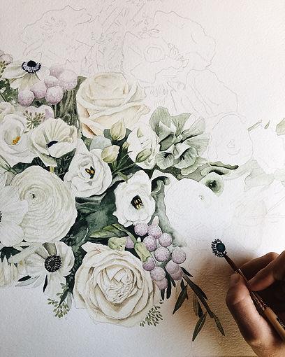 Bouquet in process.JPG
