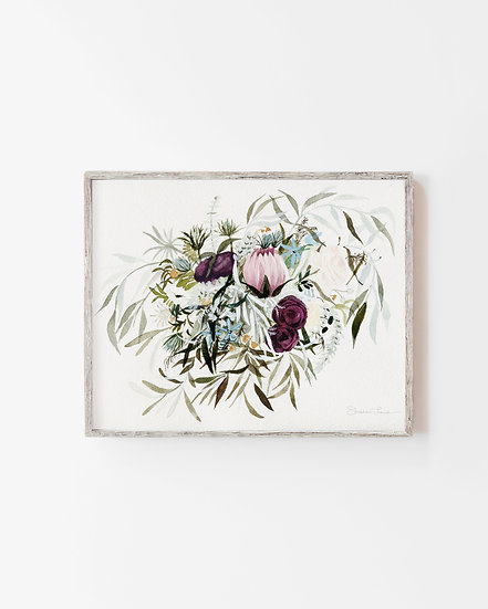 Rustic and Free Bouquet Watercolor Painting — Print