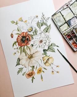 Wildflower Bouquet Original Painting
