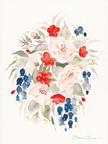 Loose Bouquet no. 2 Watercolor Painting — Print