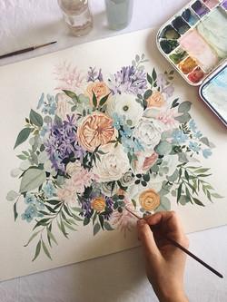 Pastel Watercolor Bouquet