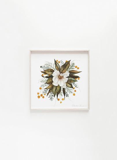 Magnolia Bouquet Watercolor Painting — Print
