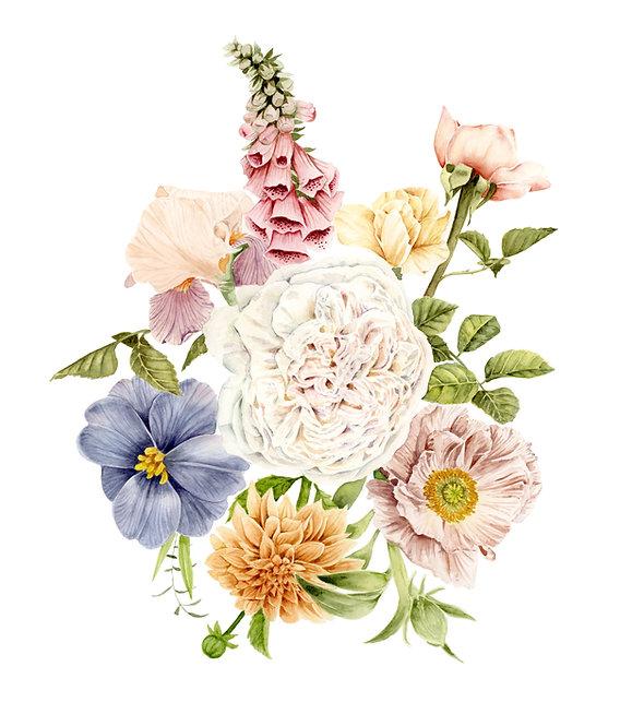 Radiant Blooms — Watercolor Painting Print