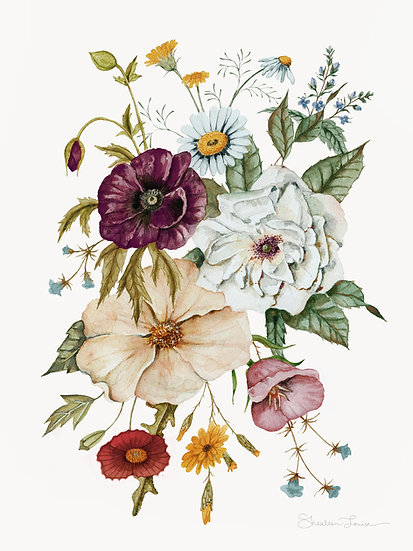 Colorful Wildflower Bouquet — Print