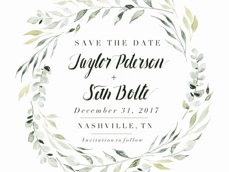 Taylor & Seth —  Save the Date!