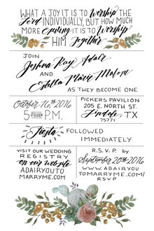 Watercolor Cactus Wedding Invitations for Stella & Josh