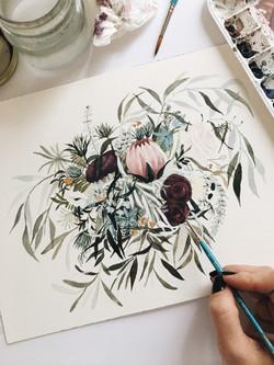 Flowing Wedding Bouquet Commission
