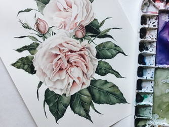 Garden Roses —Process & Time-Lapse