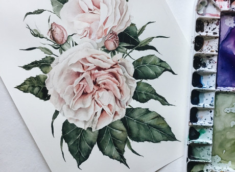 Garden Roses — Process & Time-Lapse