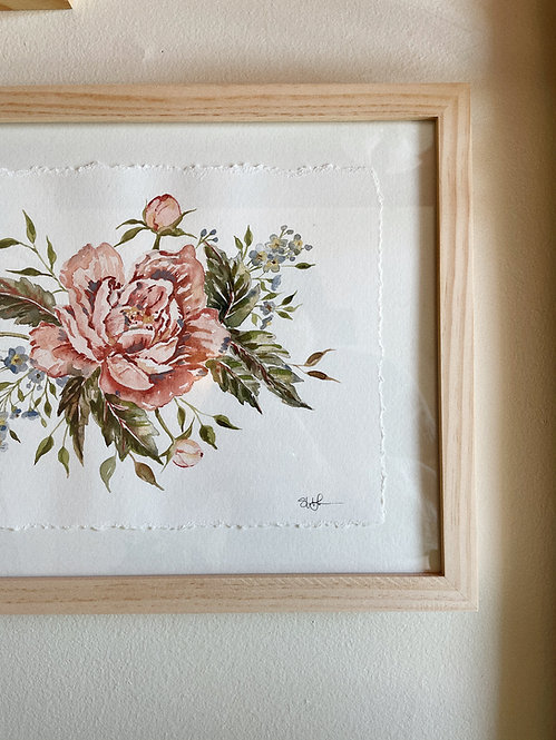 """Wild Rose Bouquet"" — 8.5 x 11.5, Original Watercolor"