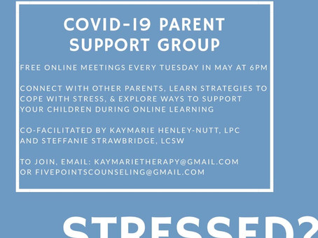 Spring 2020 - Stressed? Parent Support Group