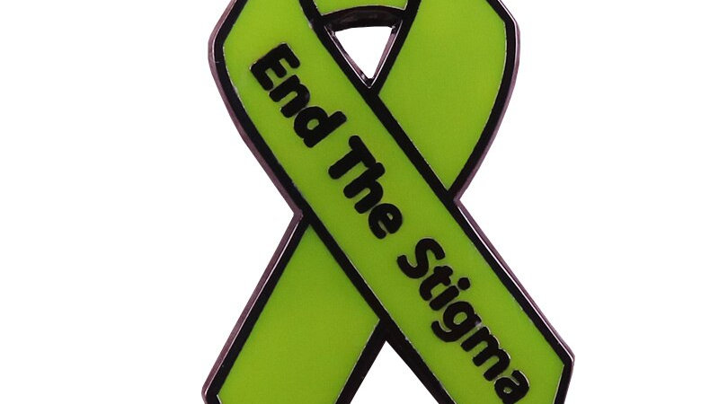 End the Stigma Green Ribbon Pin