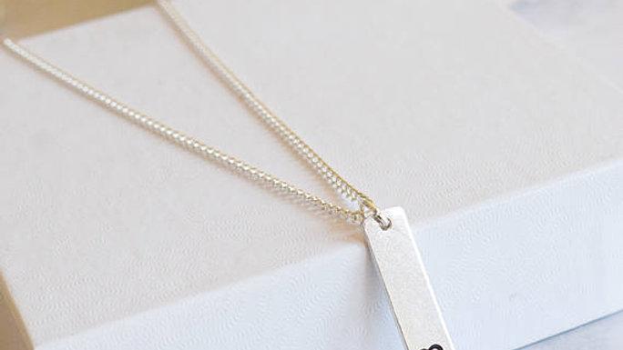 Suicide Prevention Semi Colon Necklace