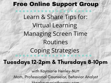 Parenting During Covid Fall 2020 Support Group